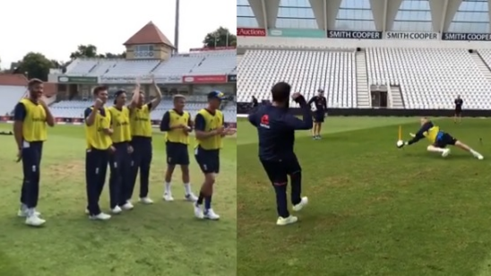 WATCH: England cricketers try penalty shoot-out ahead of first ODI against India