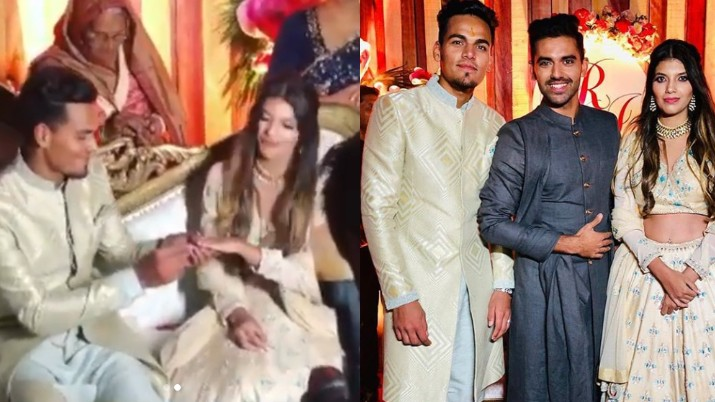 Rahul Chahar gets engaged to his longtime girlfriend; cousin Deepak calls him lucky