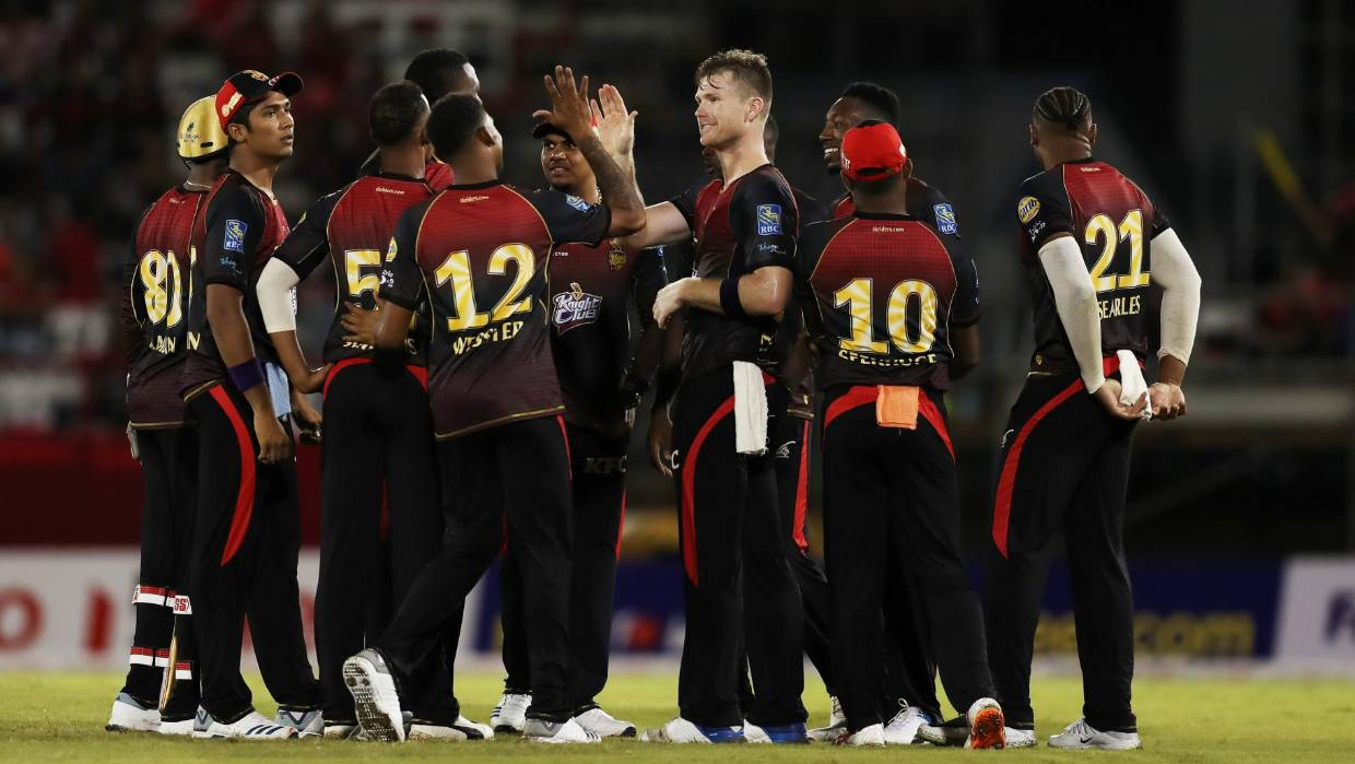 Neesham plays for TKR in the CPL 2019 | CPLT20