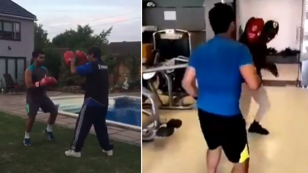 Umar Akmal gets roasted by Twitterati for his hilarious kickboxing video
