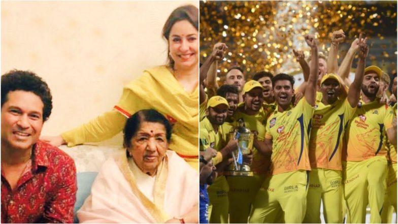 IPL 2018 : सचिन तेंदुलकर ने आईपीएल 2018 के फाइनल का लुत्फ़ उठाया लता मंगेशकर के साथ
