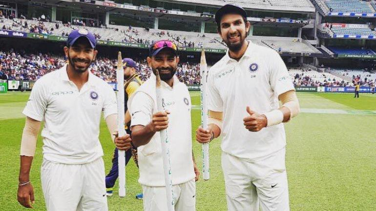 Bumrah, Shami and Ishant were stars of India's Test series win down under