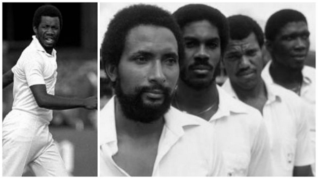 Michael Holding alsong with Andy Roberts, Malcolm Marshall, Colin Croft and Joel Garner - the feared West Indian pace attack