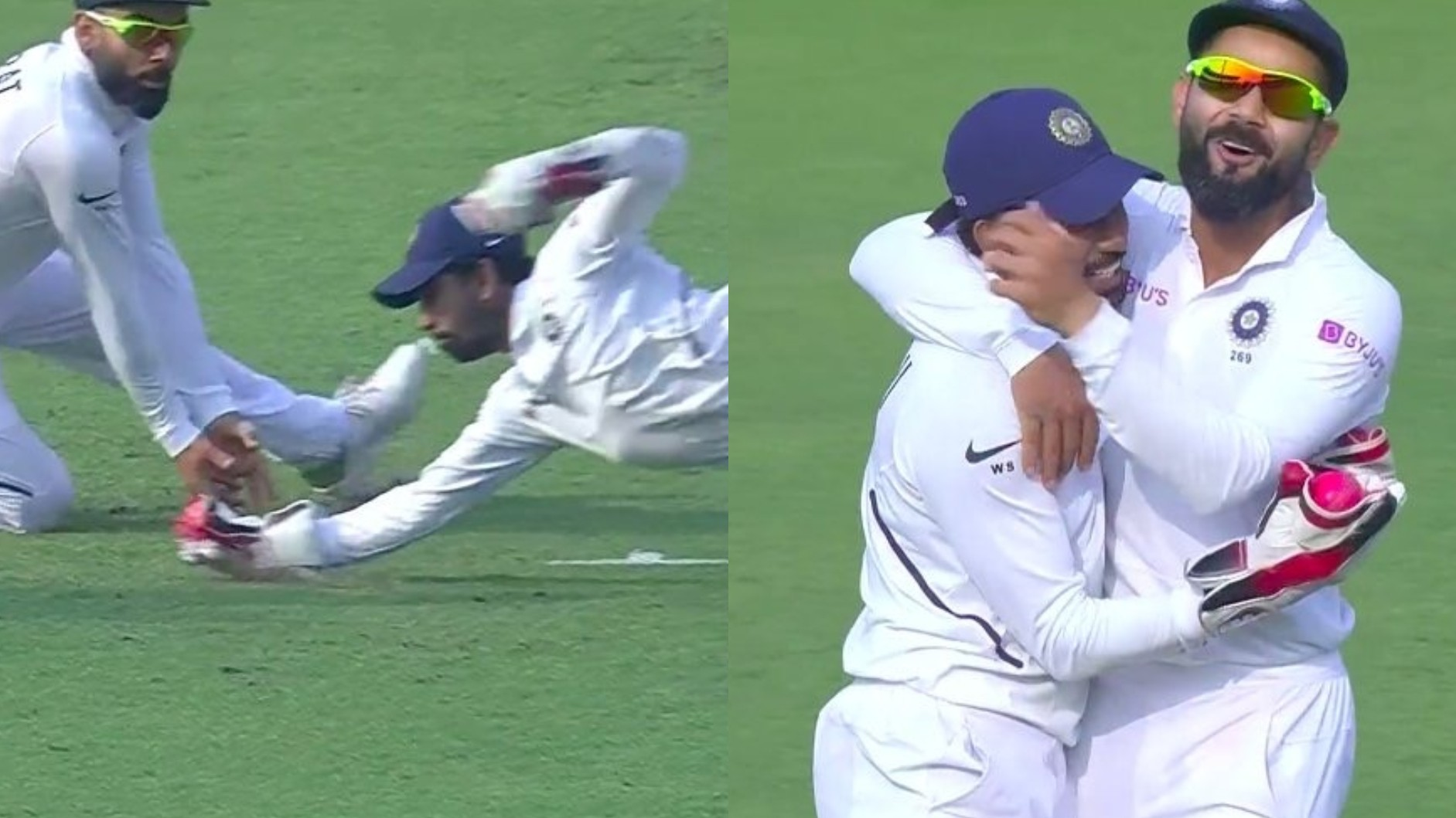 IND v BAN 2019: WATCH- Wriddhiman Saha plucks one out of thin air to take a one-handed beauty of a catch