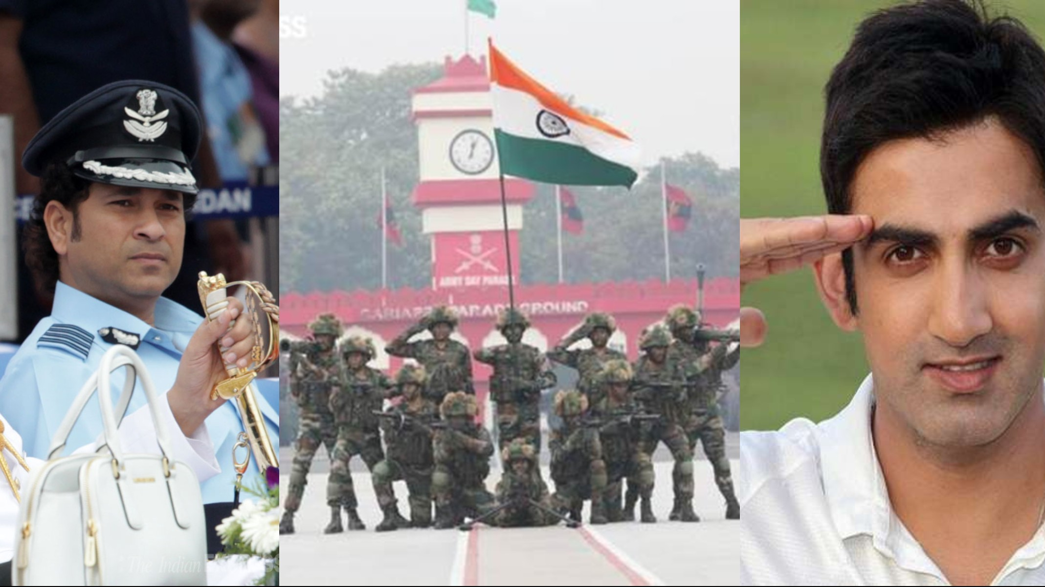 Indian cricketers salute the spirit of country's armed forces on 72nd Army Day