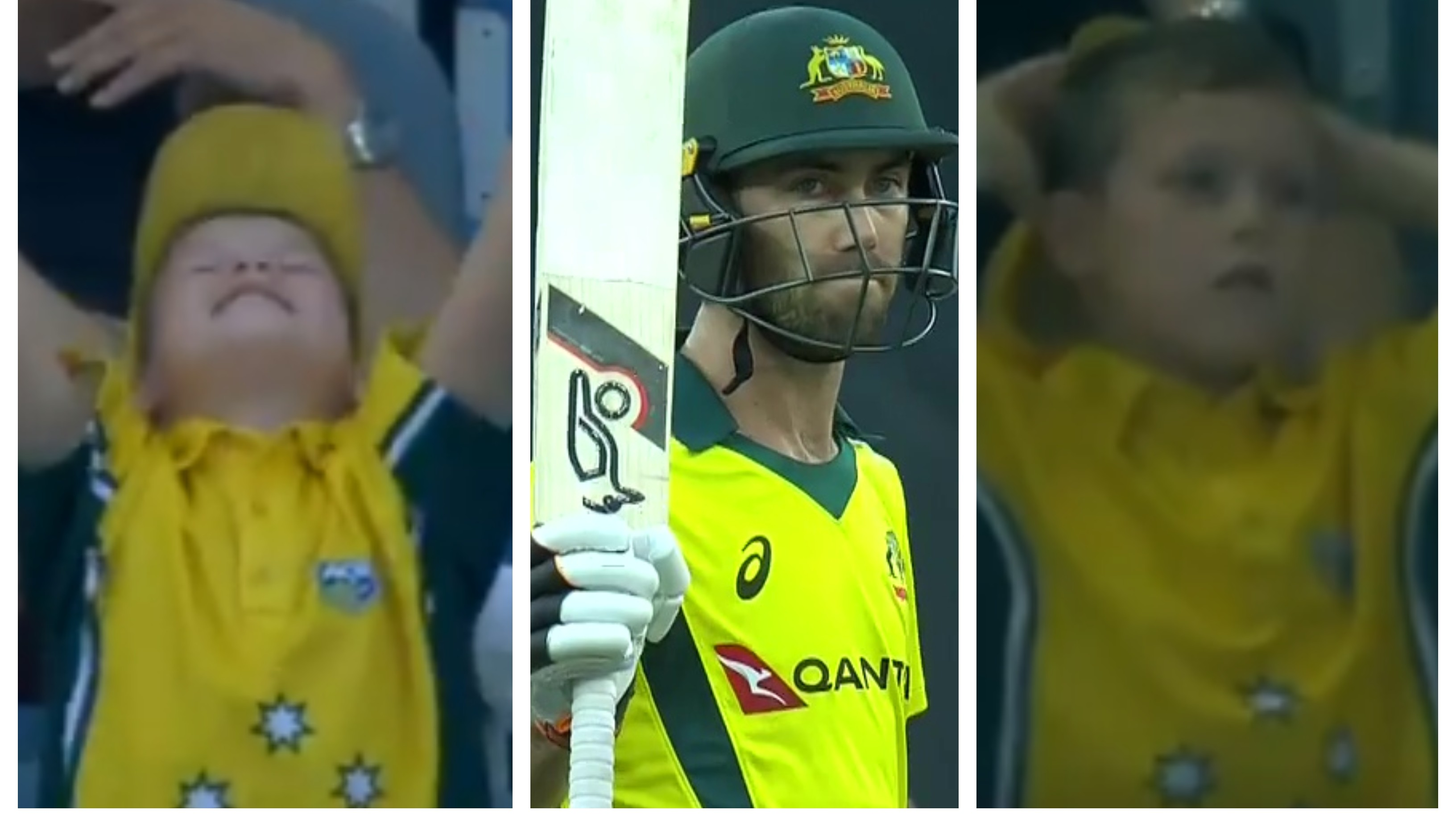 PAK v AUS 2019: WATCH – A little Australian fan shows different emotions during Maxwell's innings in the 4th ODI