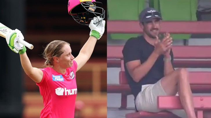 WBBL 06: WATCH - Alyssa Healy hits fastest ton in WBBL; husband Mitchell Starc applauds from stands