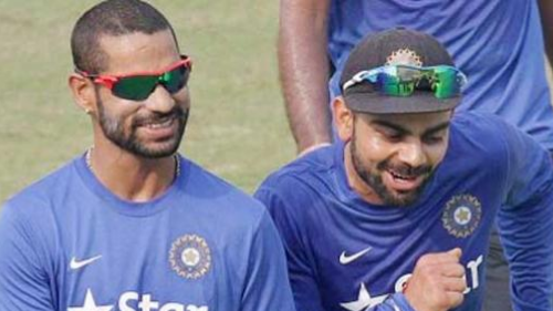 Watch: Virat Kohli shows his dance moves and challenges Shikhar Dhawan