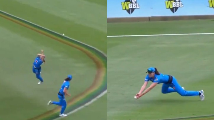 WBBL 2020: WATCH - Maddy Penna and Tahlia McGrath complete an astonishing and funniest relay catch