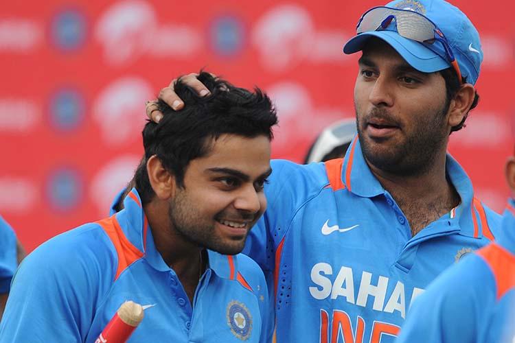 Yuvraj Singh with Virat Kohli | Getty