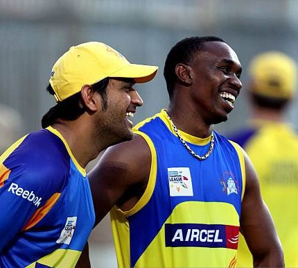 Dwayne Bravo says playing under MS Dhoni is a pleasure