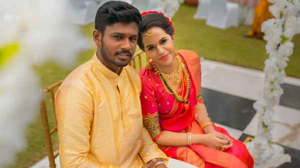 Sanju Samson ties the knot with his longtime girlfriend in Kovalam