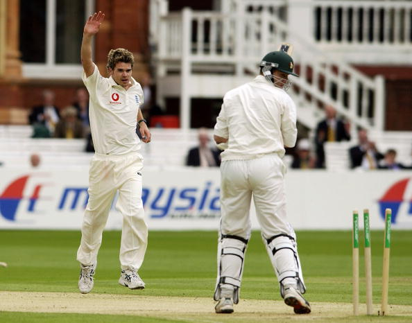 James Anderson on his Test debut in 2003 vs Zimbabwe at Lord's | Getty