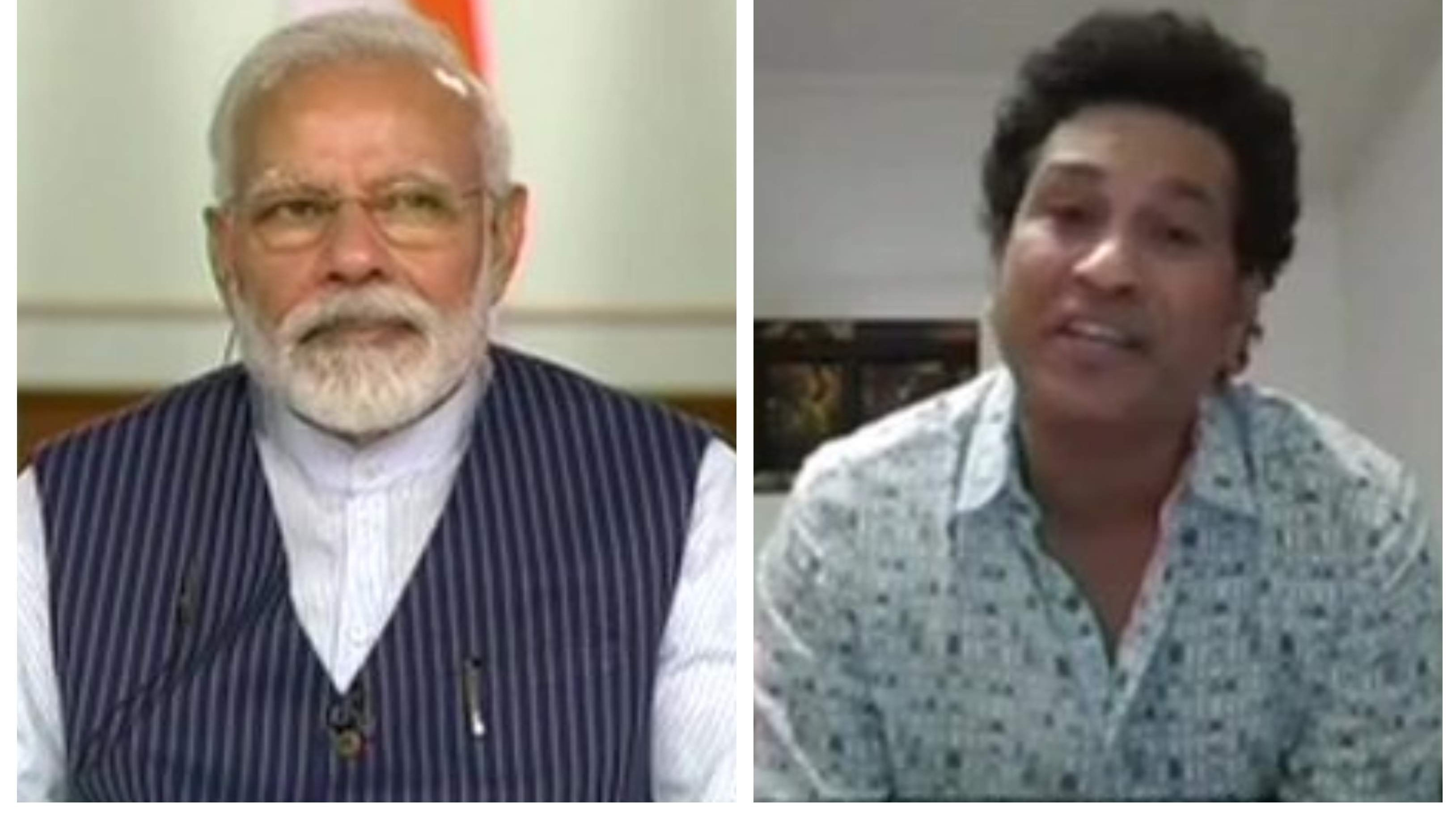 Sachin Tendulkar shares details of video conference with PM Modi amid COVID-19 lockdown