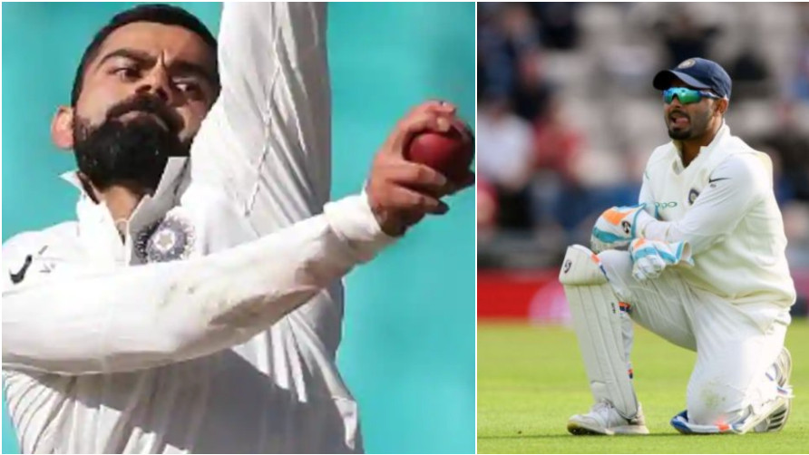 AUS v IND 2018-19: WATCH- Virat Kohli's bowling leaves wicket-keeper Rishabh Pant confused