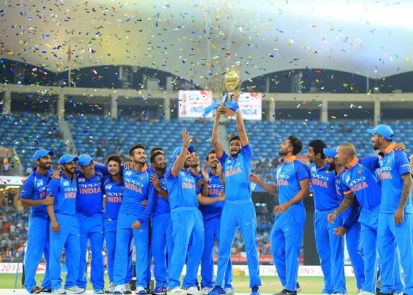 Indian cricket team after winning Asia Cup 2018 | GETTY