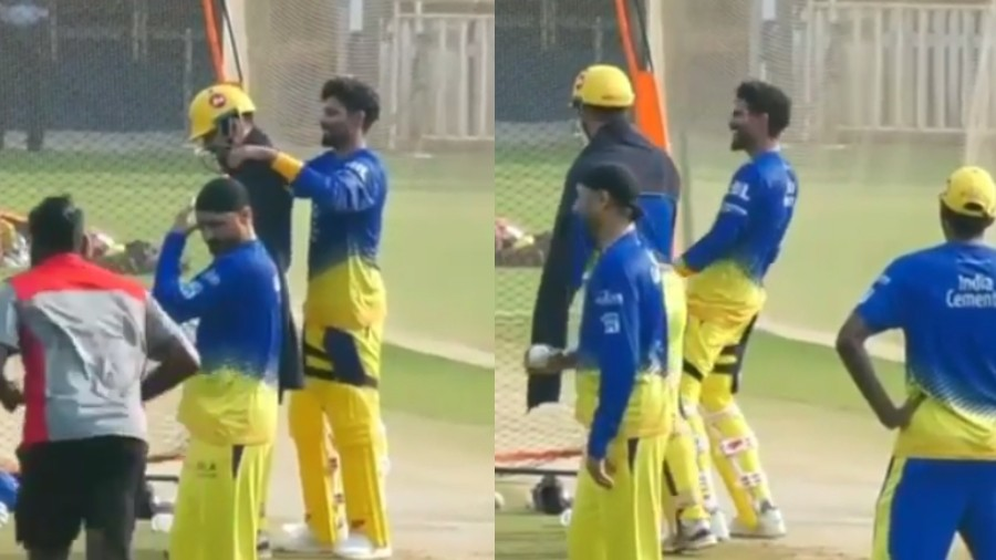IPL 2019: WATCH- MS Dhoni and Ravindra Jadeja share a laugh in the practice session
