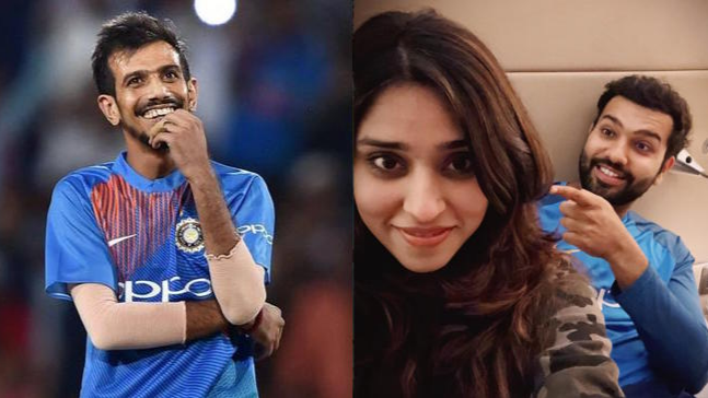 Rohit Sharma and his wife Ritika pull Yuzvendra Chahal's leg on his 28th birthday