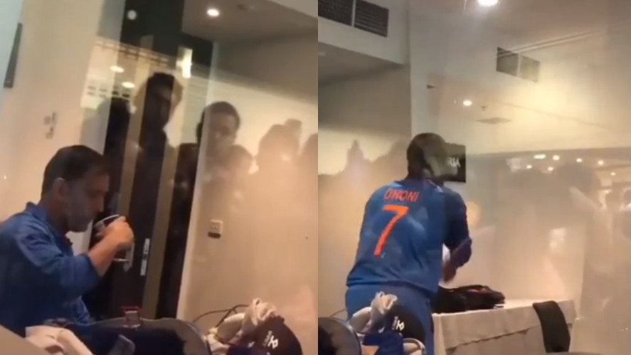 AUS v IND 2018-19: WATCH - MS Dhoni gets cheered on by fans even before going out to bat at MCG