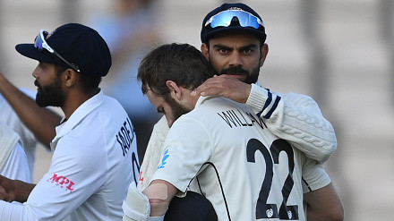 Williamson speaks on hugging Kohli; opines on India's lack of match practice before WTC 2021 Final