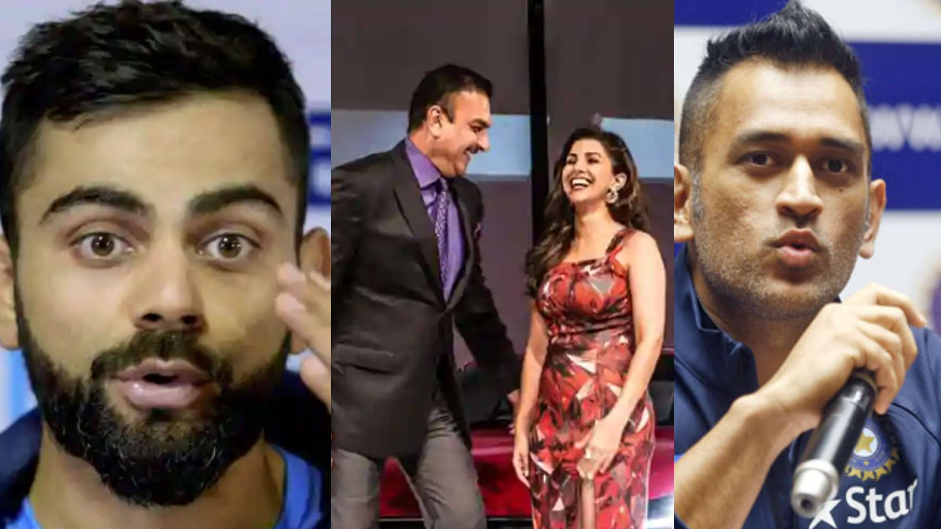 FAKE FB WALL: MS Dhoni and Virat Kohli react to rumors of Ravi Shastri's relationship with Nimrat Kaur