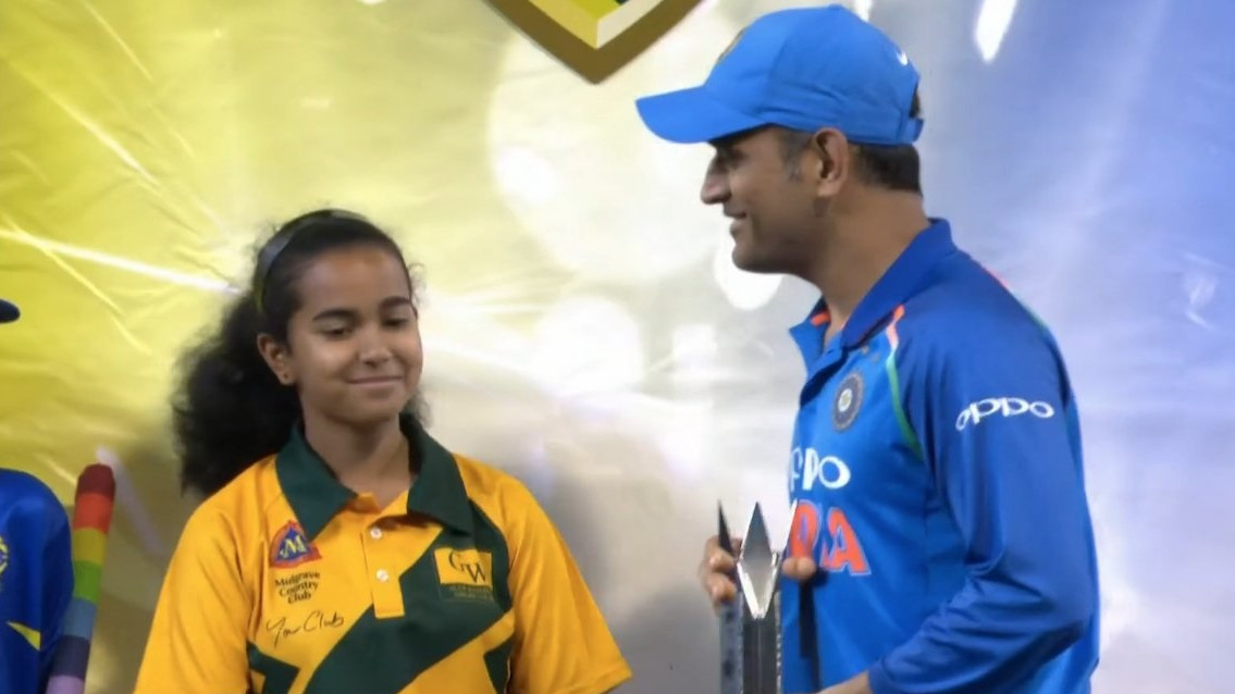 AUS v IND 2018-19: Fans celebrate as MS Dhoni wins Man of the Series award