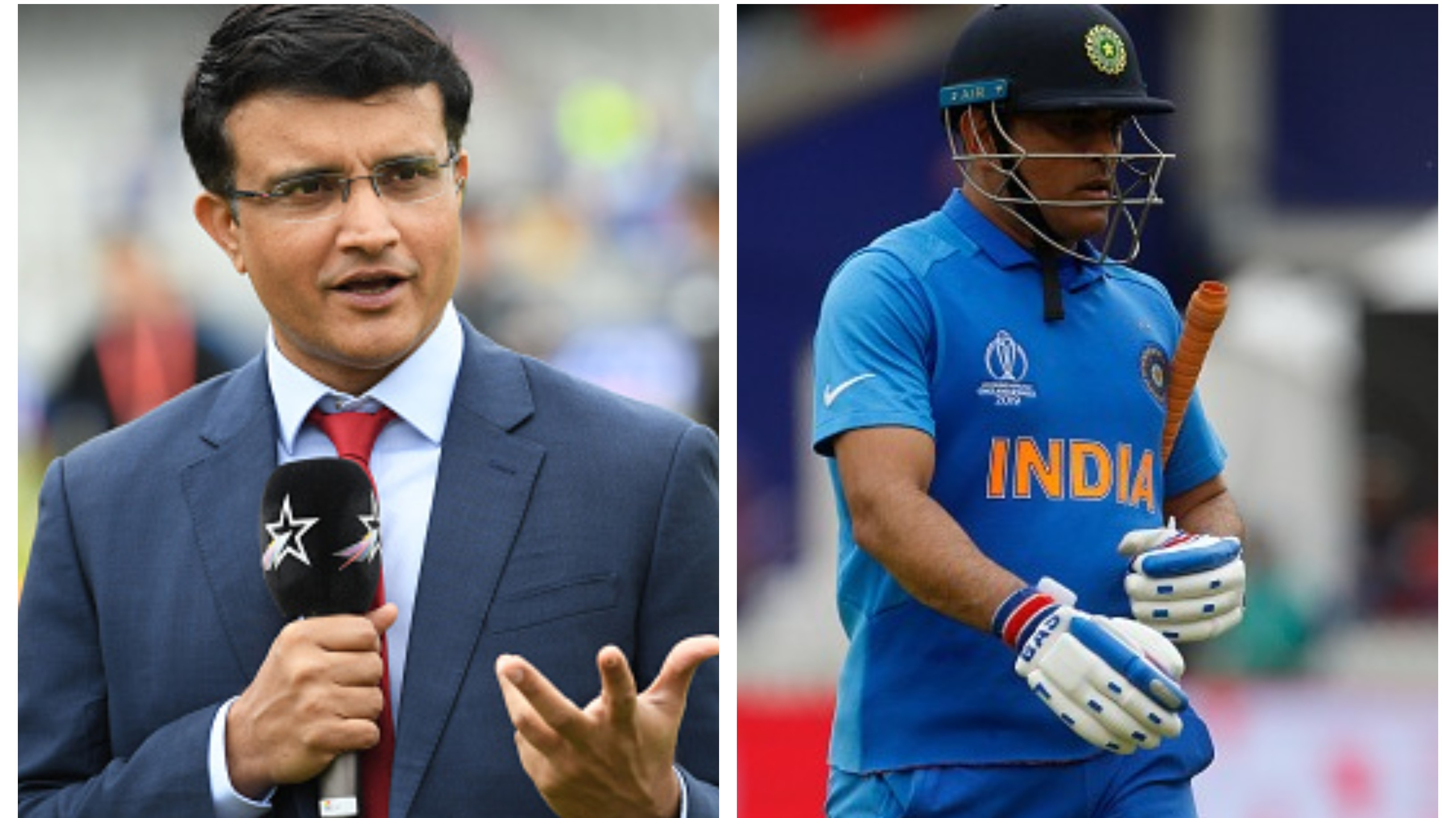 BCCI president Sourav Ganguly discloses his line of action on MS Dhoni's cricket future