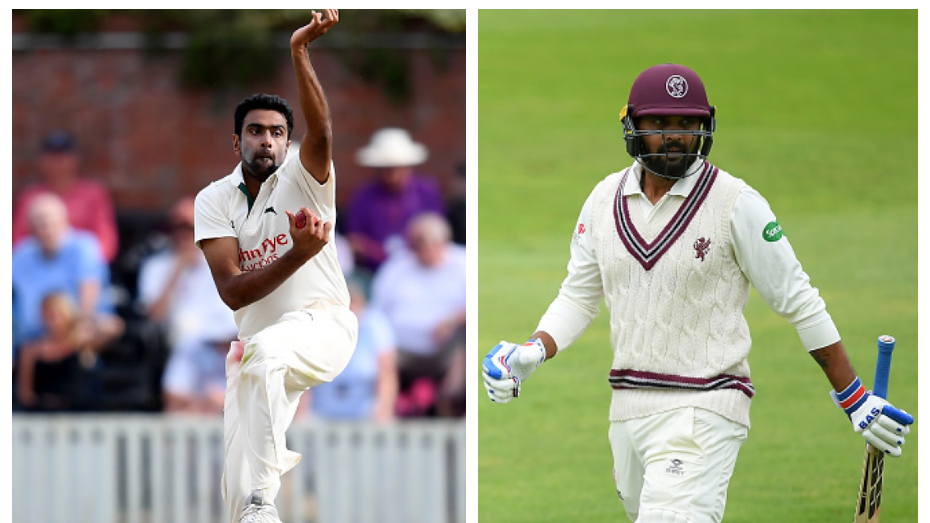 R Ashwin bags his fourth five-fer, while M Vijay struggles again in the County Championship