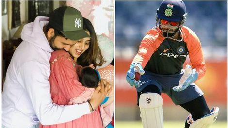 Rishabh Pant gives an apt reply to Rohit Sharma's request to babysit his daughter