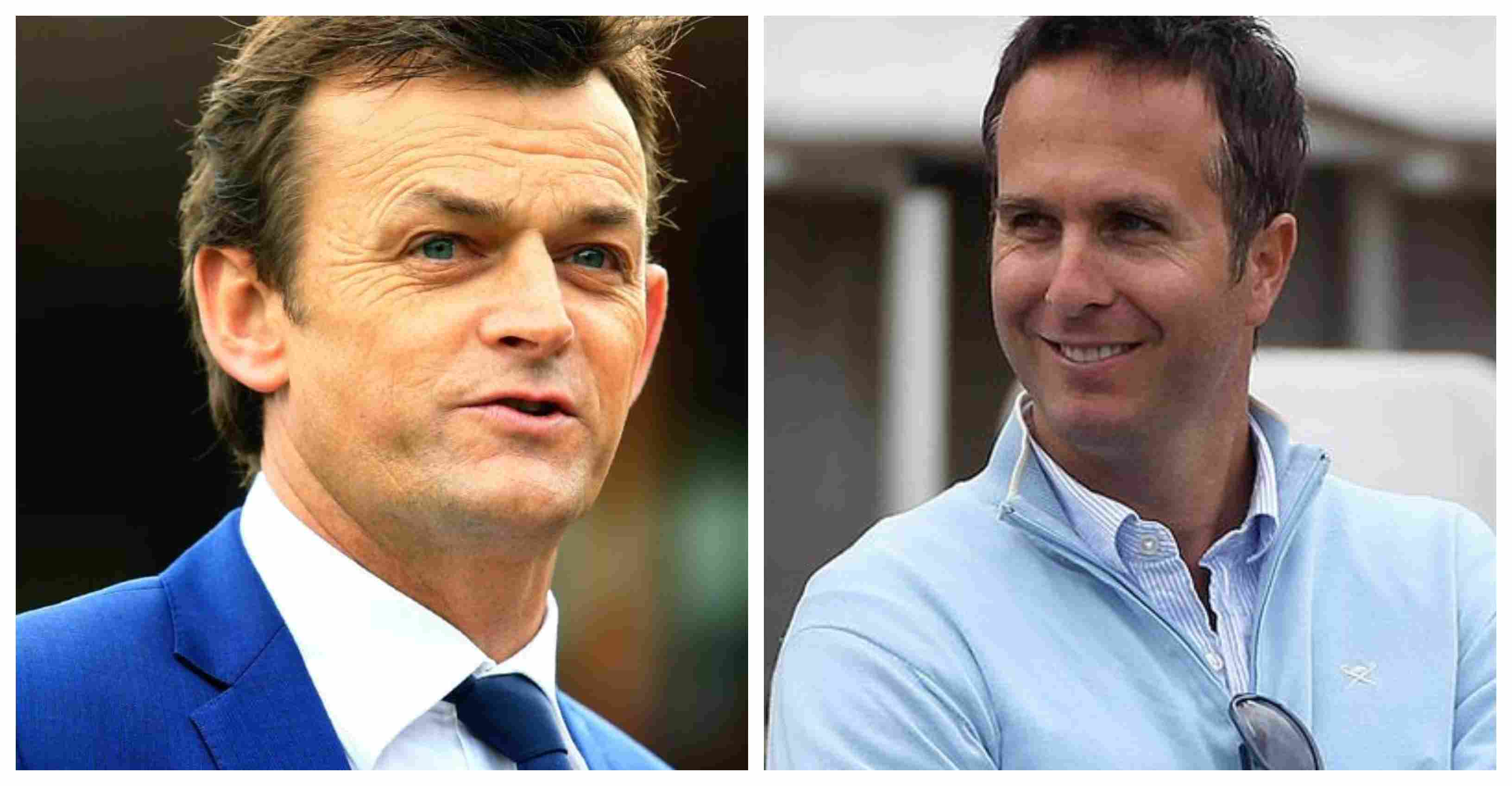 Adam Gilchrist and Michael Vaughan