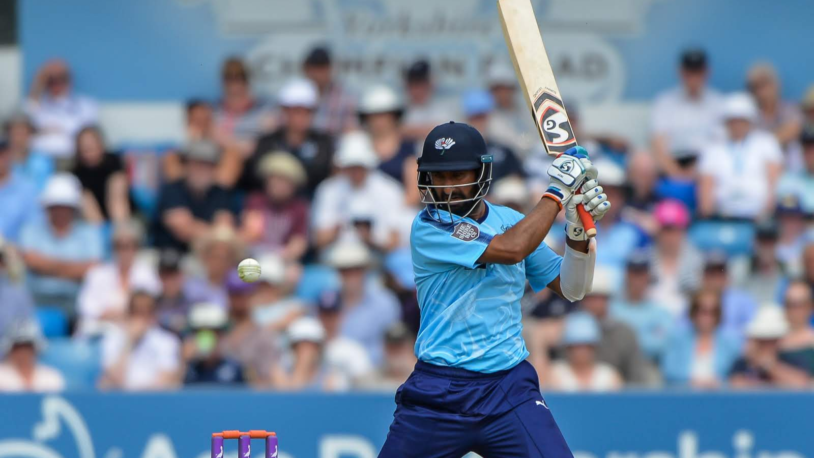 Cheteshwar Pujara scores a valiant 101 in Yorkshire's defeat against Worcestershire