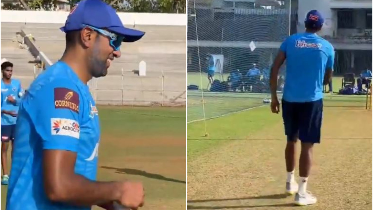 IPL 2021: WATCH - Ravichandran Ashwin joins Delhi Capitals (DC); bowls in the nets