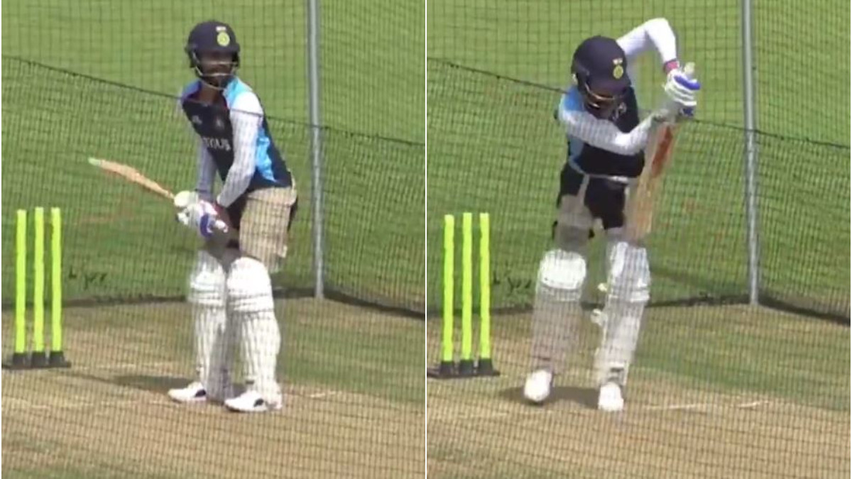ENG v IND 2021: WATCH - Virat Kohli bats in the nets during Lunch on Day 2 of India's warm-up fixture