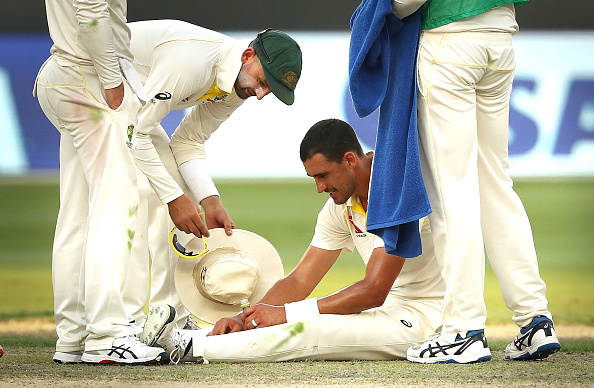Starc struggled on his came back in the first Test at Dubai   Getty