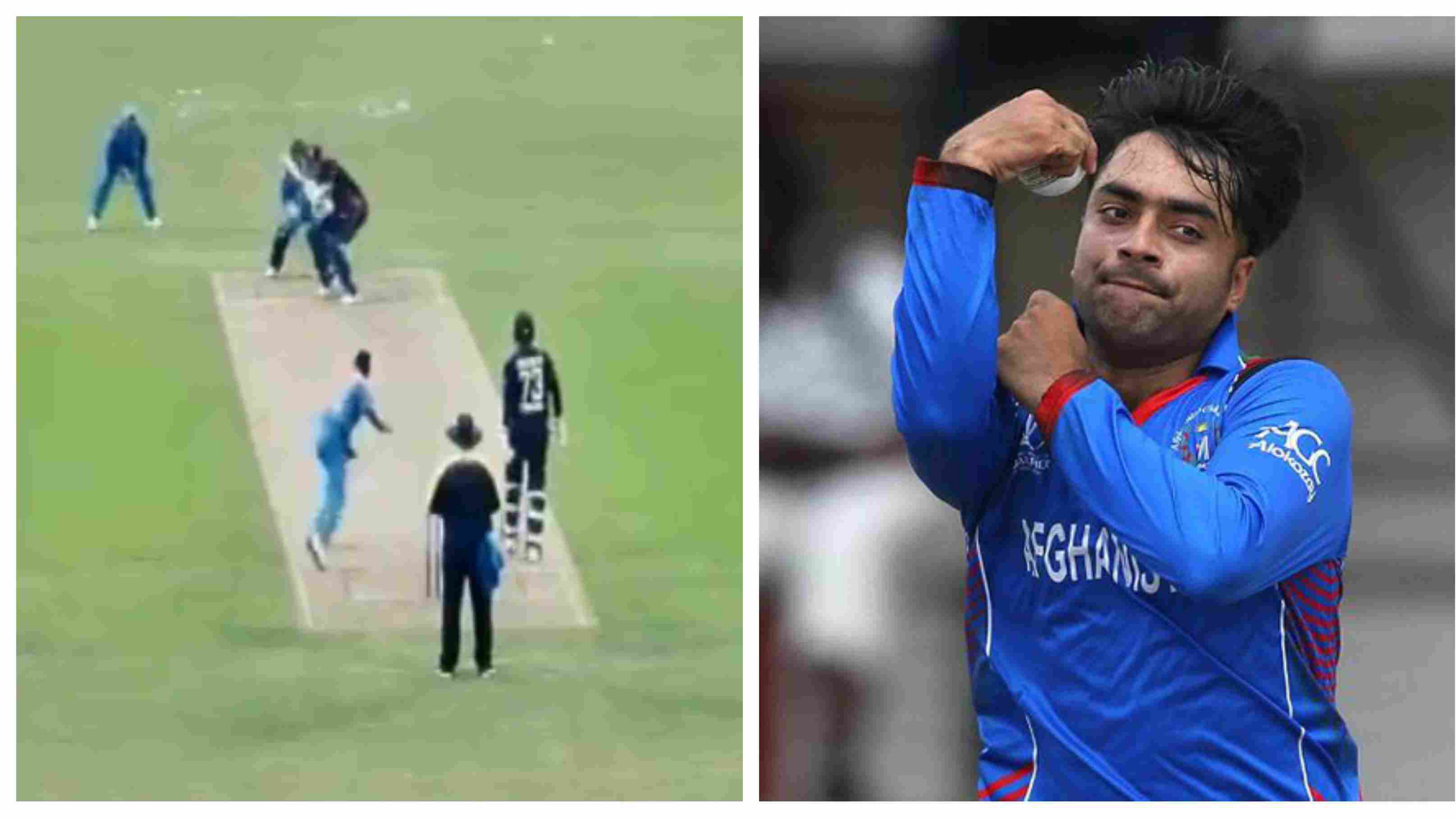 WATCH: Krunal Pandya bowls a bouncer to England Lions batsman, Rashid Khan extends his support