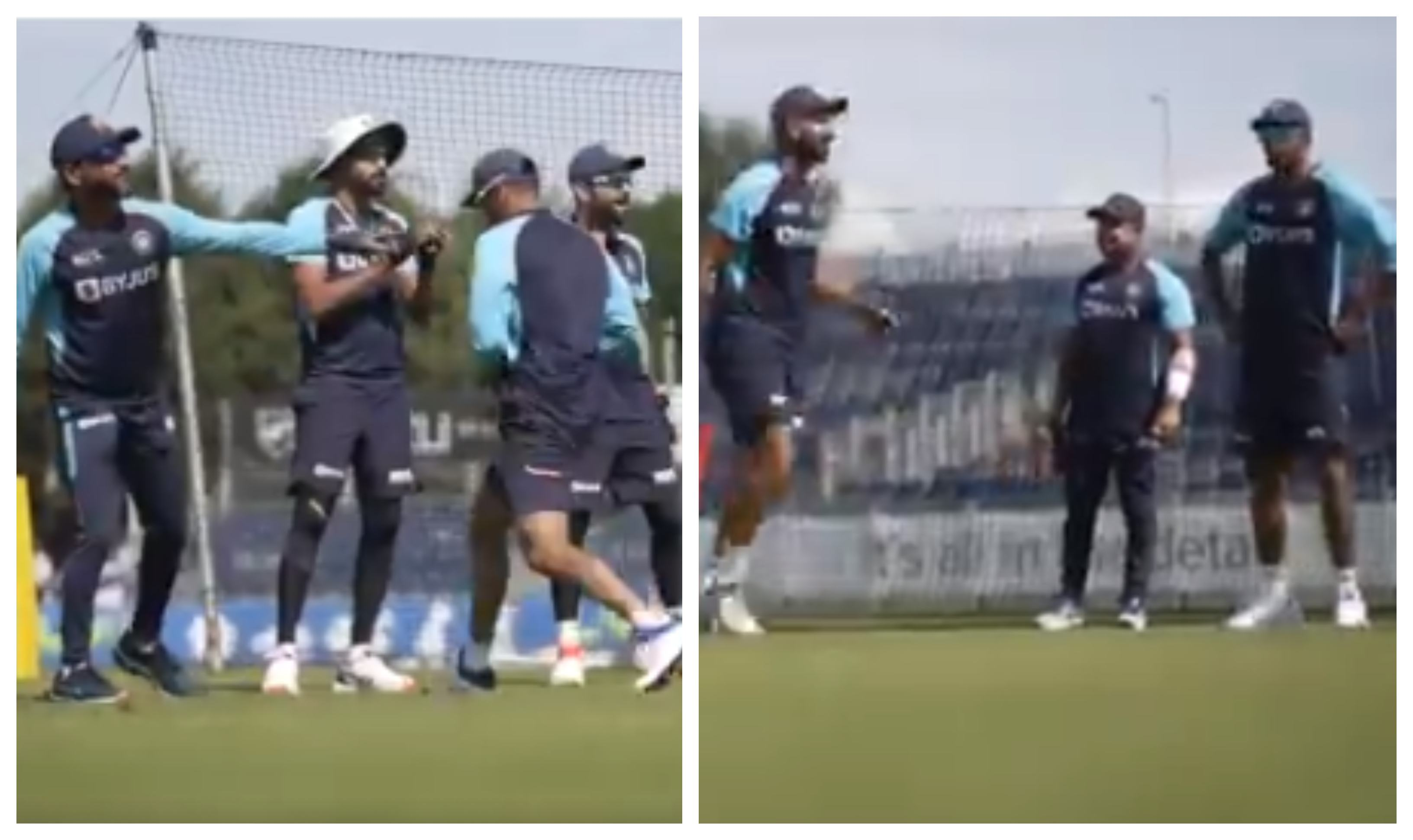 Team India's fielding session   BCCI/Screengrab