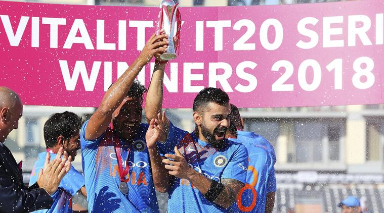 India won the T20I series against England. (Getty)