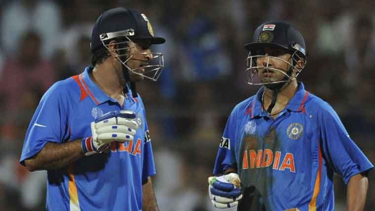 Gautam Gambhir blames MS Dhoni for missing his century in the 2011 World Cup final