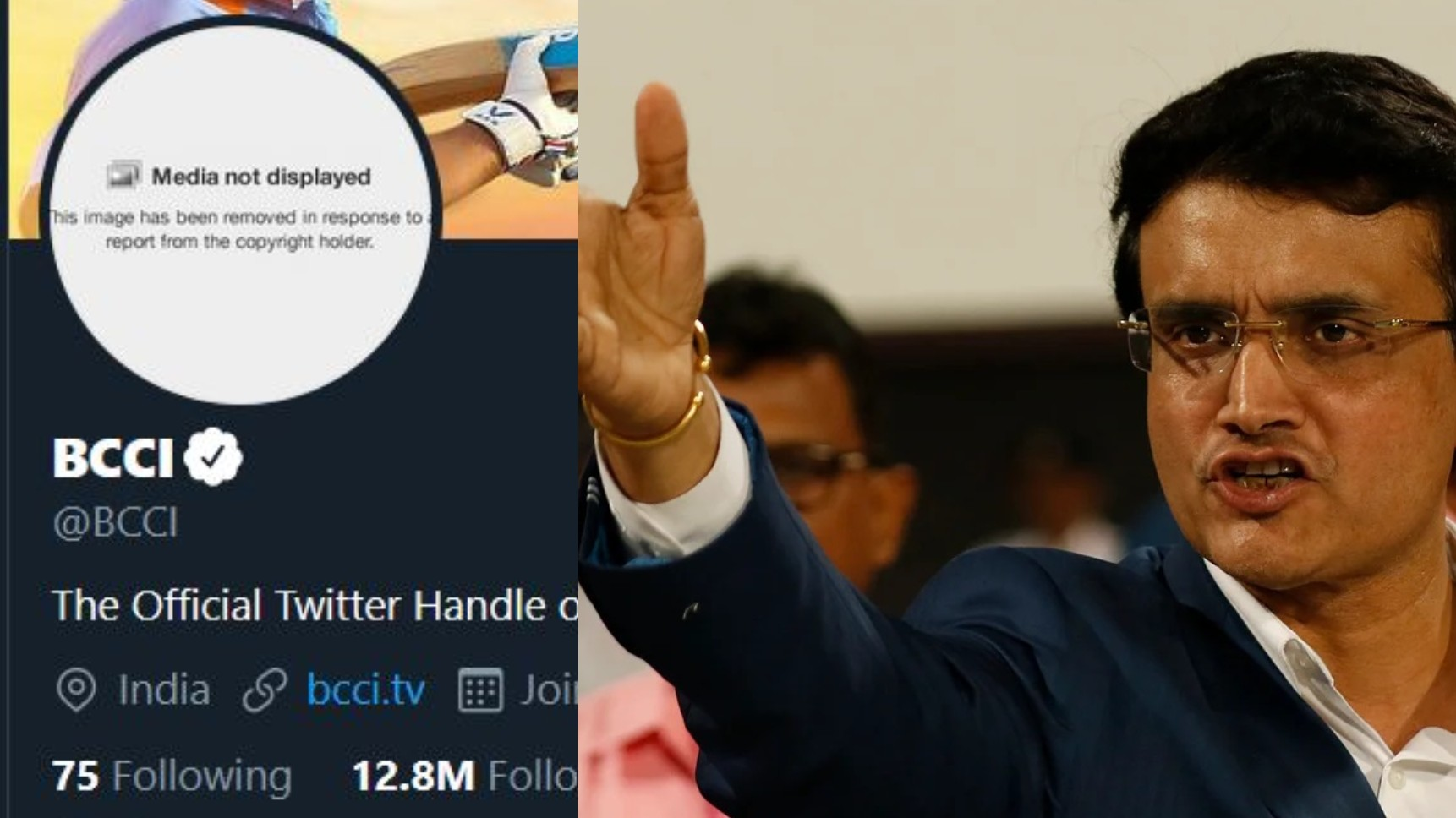BCCI's profile photo on official Twitter handle gets blocked due to copyright claims
