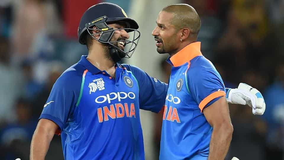 The top order of Shikhar Dhawan and Rohit Sharma did the bulk of scoring for India | Getty