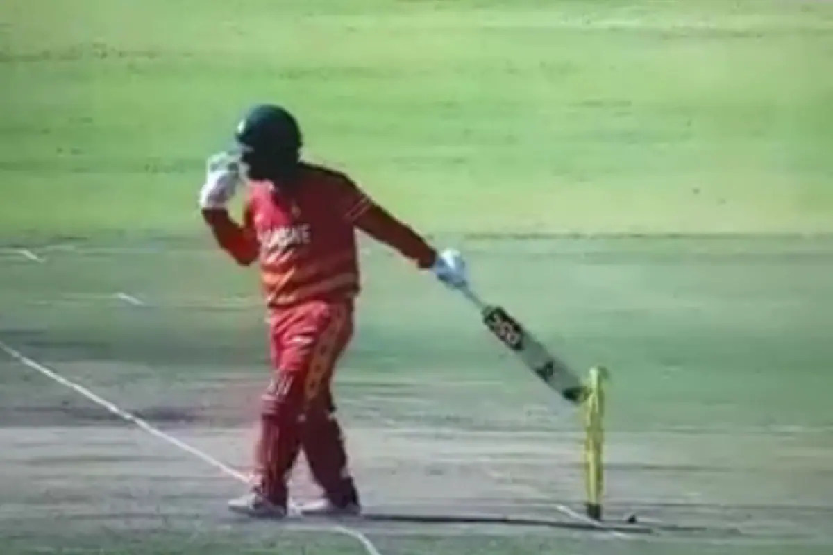 Brendan Taylor was given out hit wicket | Twitter
