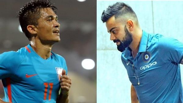 विराट कोहली के ट्वीट पर सुनील छेत्री की प्रतिक्रिया दोनों खिलाड़ियों के पारस्परिक संबंधो को करता हैं साबित