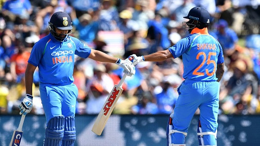 NZ v IND 2019: India finish strong at 324/4; Rohit and Dhawan hit half-centuries