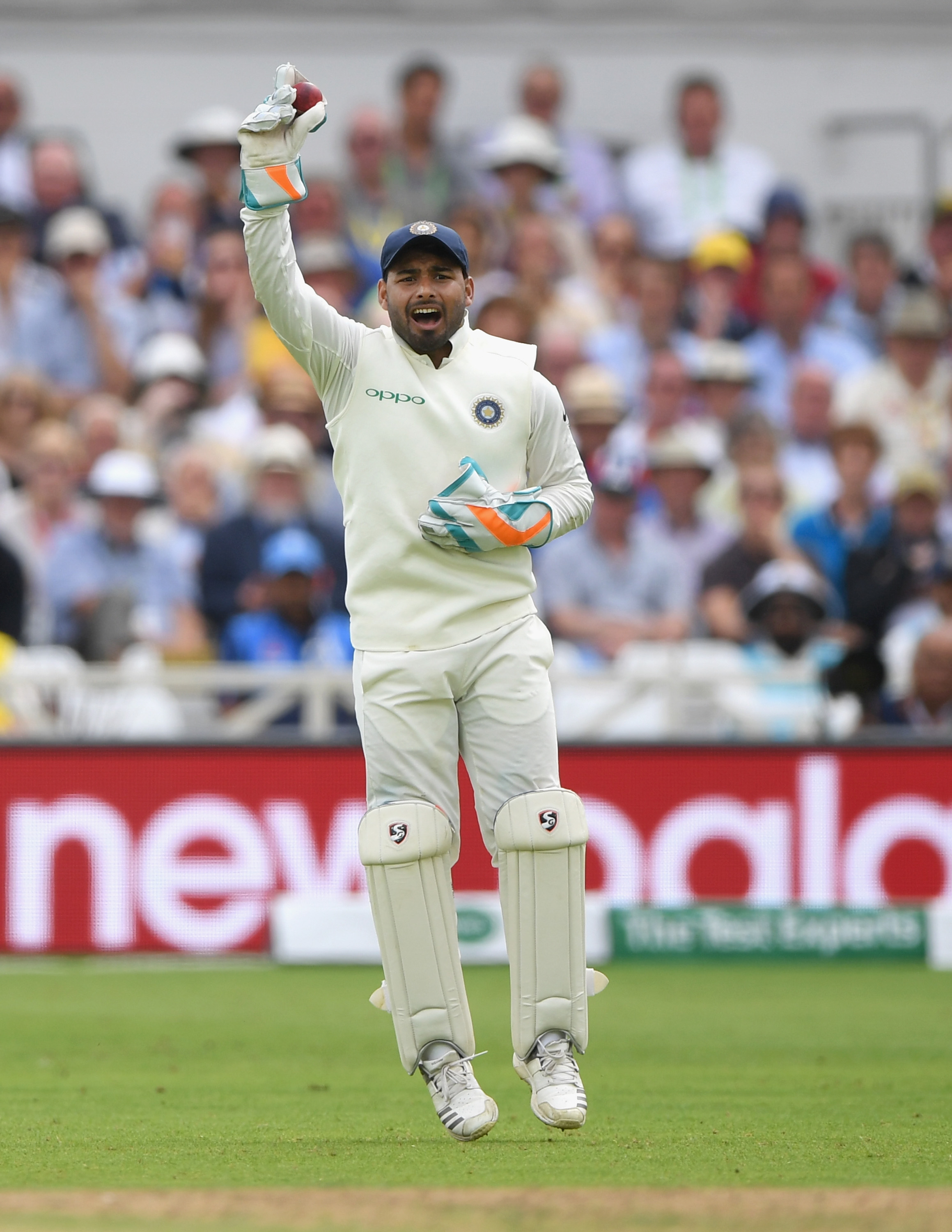 Rishabh Pant became only the fourth Indian wicket-keeper to have taken five catches on Test debut. (Getty)