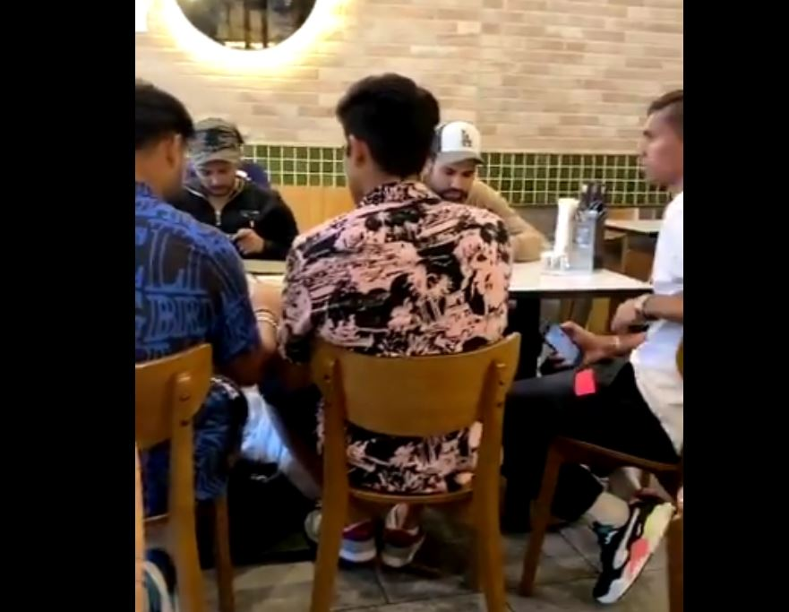 A fan had shared a video of 5 Indian players including Rohit and Pant eating in a Sydney hotel