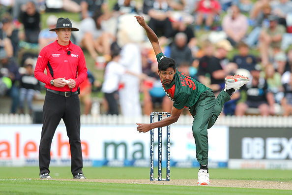 Mustafizur Rahman in action during the NZ v BAN T20 series   Getty