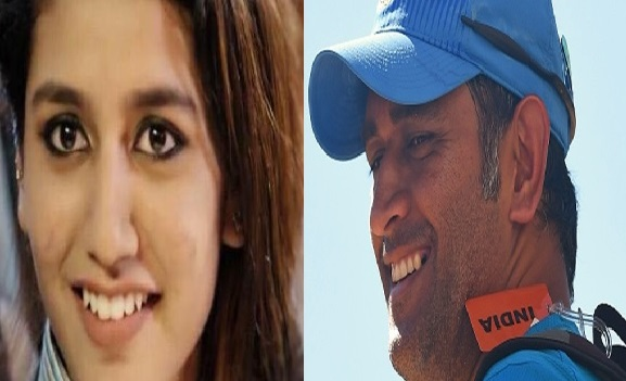 Priya Prakash Varrier names MS Dhoni as her favorite cricketer