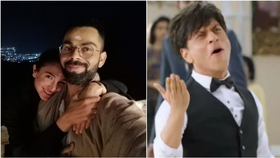 Shah Rukh Khan of movie 'Zero' is jealous spotting Virat and Anushka together
