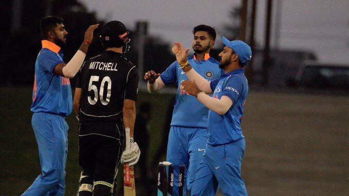 India A wins third match by 75 runs to clean sweep series 3-0 against NZ A; Kaul takes four wickets