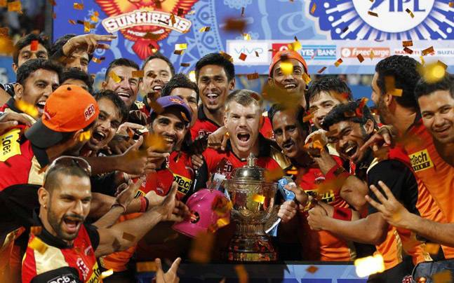 Sunrisers Hyderabad after winning IPL 2016